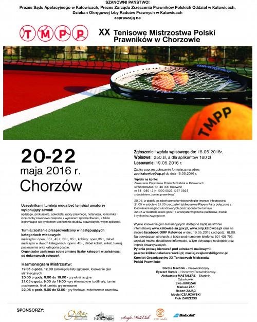 Plakat 20 tenisowe mistrzostwa pl jpg ( z -)